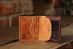 Peňaženky - Menšia kožená peňaženka IX. - 10448136_