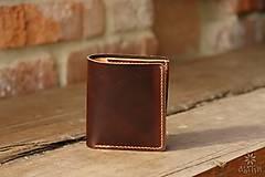 Peňaženky - Menšia kožená peňaženka IX. - 10448137_