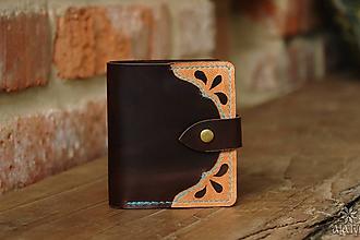 Peňaženky - Menšia kožená peňaženka IX. - 10448338_
