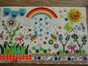 Úžitkový textil - Senzorický koberec POD DÚHOU - 10445864_