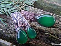 Sady šperkov - Sľúbená........sada (zelený achát) - 10446232_