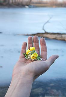 Ozdoby do vlasov - Kvetinová sponka - 10448858_