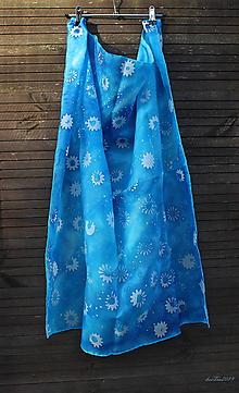 Šatky - silk scarf_hodvábna šatka_blue_tyrkys_modrá - 10445418_