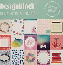 Papier - blok tagov / kartičiek 10x10 cm - 10446306_