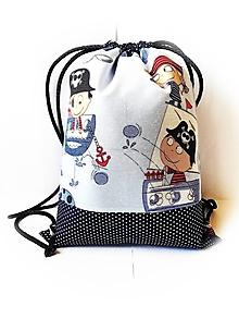 Detské tašky - Detský batoh, ruksak, vak - Piráti (hrubá bavlna) - 10446650_