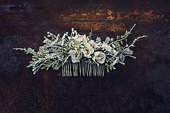 Ozdoby do vlasov - Hrebienok biela čipka - 10445713_