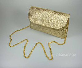 Kabelky - Dámska listová kabelka - zlaté zlato - 10448652_