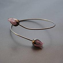 Náramky - Recy náramok ružové puky - 10447288_