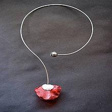 Náhrdelníky - Náhrdelník PET červený vlčí mak - 10447597_