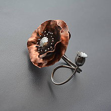 Prstene - Prsten vlčí mak - 10447612_