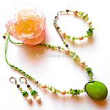 Sady šperkov - Tagua esmeralda - 10447670_