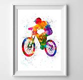 Grafika - Cyklista na horskom bicykli MTB - 10446020_