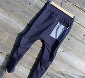 Detské oblečenie - Nohavice - pudláče, tmavo-modrá jeansovina - 10445759_