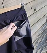 Detské oblečenie - Nohavice - pudláče, tmavo-modrá jeansovina - 10445760_