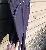 Detské oblečenie - Nohavice - pudláče, tmavo-modrá jeansovina - 10445762_