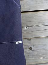 Detské oblečenie - Nohavice - pudláče, tmavo-modrá jeansovina - 10445764_