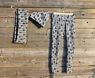 Detské oblečenie - zateplené nohavice - s potlačou gitár - 10445786_