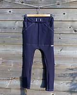 Detské oblečenie - Nohavice - pudláče, tmavo-modrá jeansovina - 10445818_