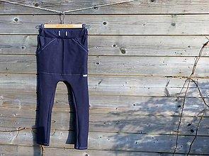 Detské oblečenie - Nohavice - pudláče, tmavo-modrá jeansovina - 10445761_