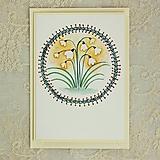 Papiernictvo - pohľadnica snežienky - 10446906_