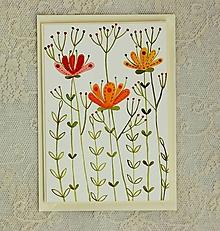 Papiernictvo - pohľadnica kvetiny - 10446949_