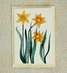 Papiernictvo - pohľadnica narcis - 10446968_