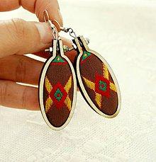 Náušnice - indiánske náušnice - 10447002_