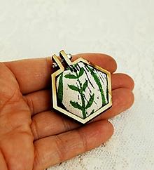 Odznaky/Brošne - brošňa rastlinky - 10447047_