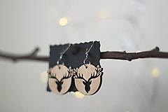 Náušnice - Jelene prírodné - 10447866_