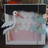 Rámiky - Shadow box pre bábätko - fotorámik na 9x13 - 10446462_