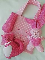 Detské tašky - TAŠTIČKA - nie len pre kupačov - ZAJKO ružový - 10446903_