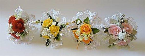 Darčeky pre svadobčanov - miniatúrne kytičky - 10446710_