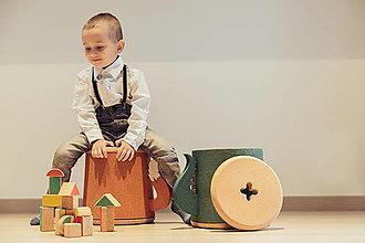 Nábytok - Korková taburetka DINO - 10448301_