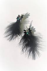 Náušnice - Black swan 2 - 10447492_