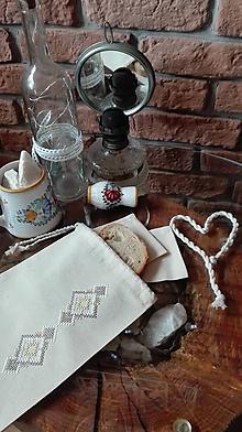 Úžitkový textil - Bavlnené vrecká na pečivo a chlebík s výšivkou - 10445771_