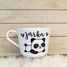 Nádoby - Šálka panda a meno - 10447871_