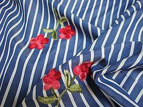 Textil - Vyšívaná látka dovoz Itálie - (10cm) - 10448799_