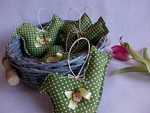 Dekorácie - textilná dekorácia vtáčik - 10446931_