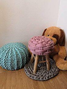 Úžitkový textil - Taburetka Marshmallow - 10445477_