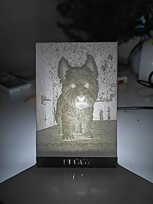 Fotografie - Lithophane Fotografia 7x10cm s USB LED podsvietením - 10445486_