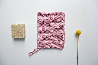 Úžitkový textil - Háčkované eko rukavice do sprchy zo 100% bavlny - 10446000_