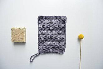 Úžitkový textil - Háčkované rukavice do sprchy zo 100% bavlny - 10446016_