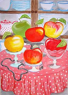 Grafika - Jablčnice parádnice (artprint v ráme) - 10448323_