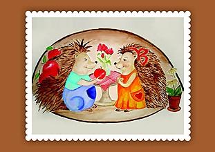 Grafika - Jožko a Jozefína (artprint v ráme) - 10448542_