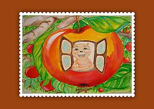 Grafika - Červík (artprint v ráme) - 10448562_