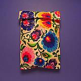 Úžitkový textil - Voskované vrecko - Kvety folk - 10447420_