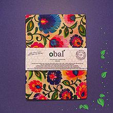 Úžitkový textil - Voskované vrecko - Kvety - 10447424_