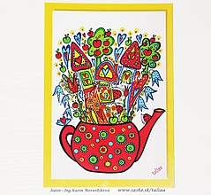 Papiernictvo - ČAJNÍKOVÁ ULICA ♥ klasická pohľadnica - 10445390_