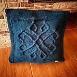 Úžitkový textil - Ručne pletený vankúš - 10447416_