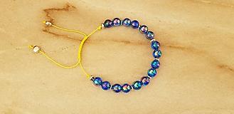 Náramky - Modrý náramok - 10446827_